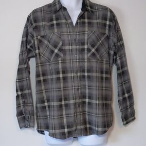 Haband flannel vintage  gray plaid size M
